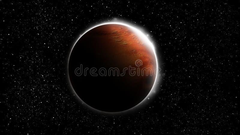 红色行星火星 皇族释放例证
