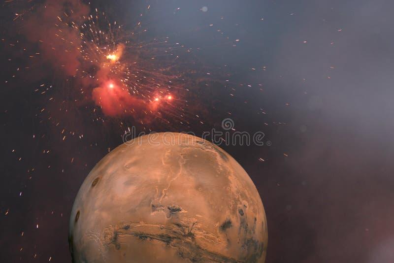 红色行星 向量例证