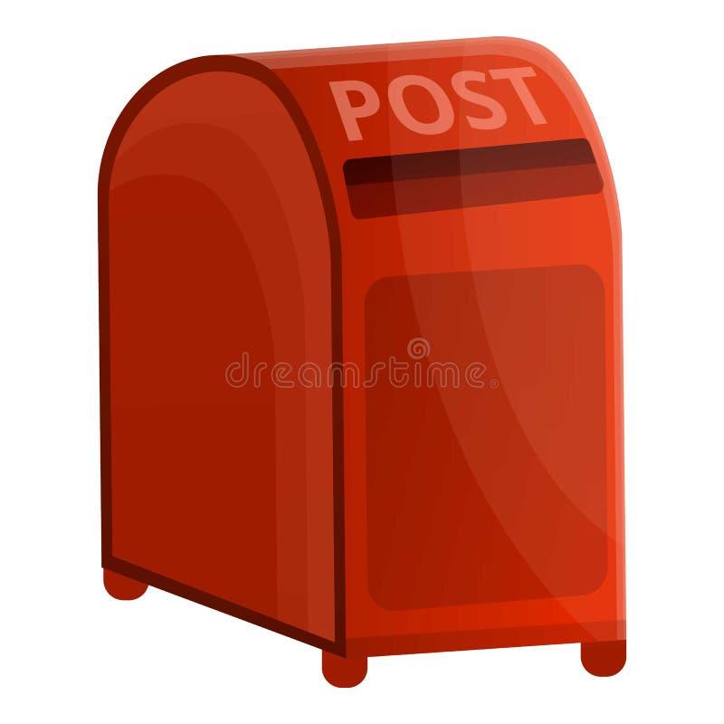 红色街道岗位箱子象,动画片样式 向量例证