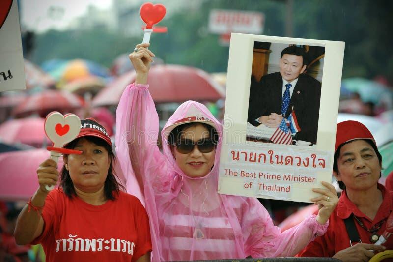 红色衬衣支持者 免版税库存图片