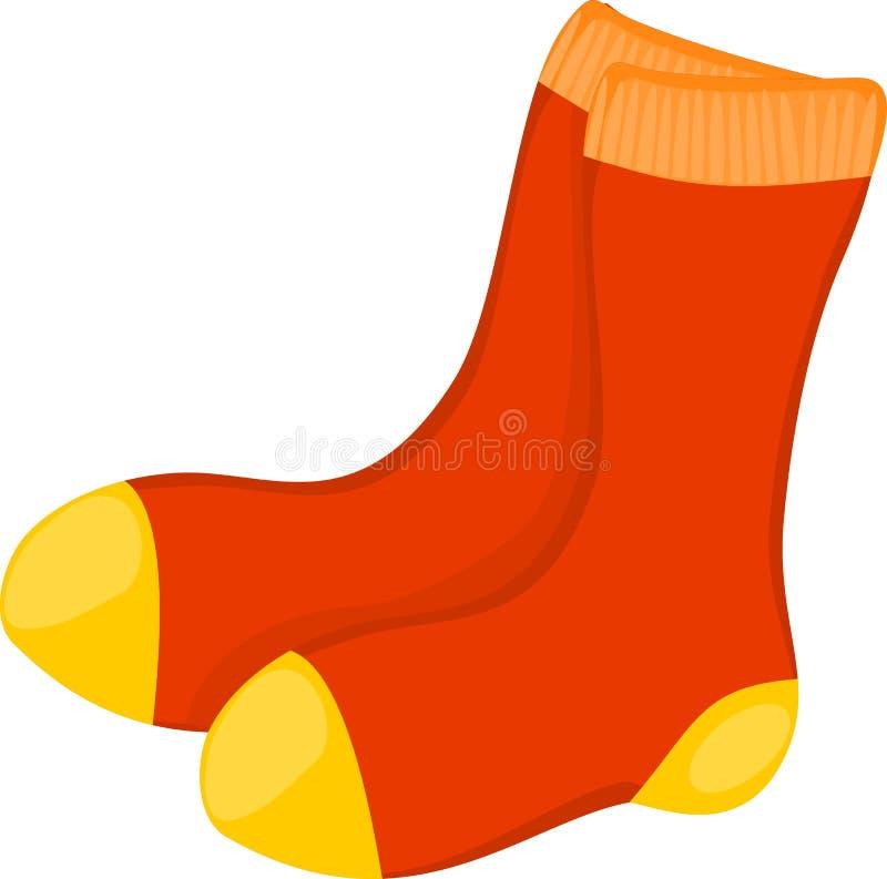 红色袜子 向量例证