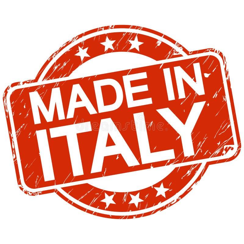 红色被抓的邮票意大利制造 库存例证