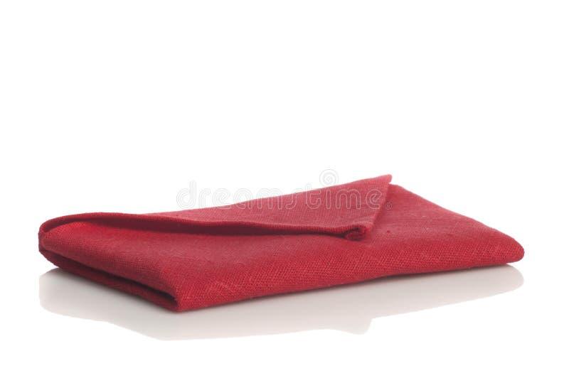 红色被折叠的餐巾 免版税图库摄影