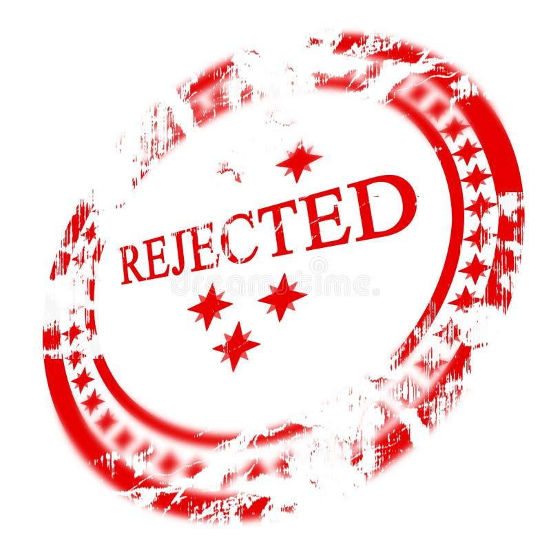 红色被拒绝的印花税 库存例证