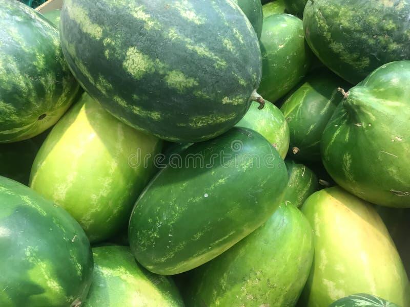 红色西瓜,夏天果子标志  免版税库存照片