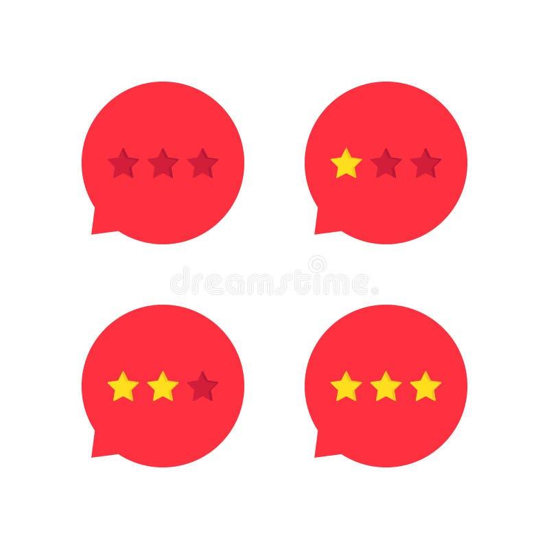 红色规定值星象集合 库存例证