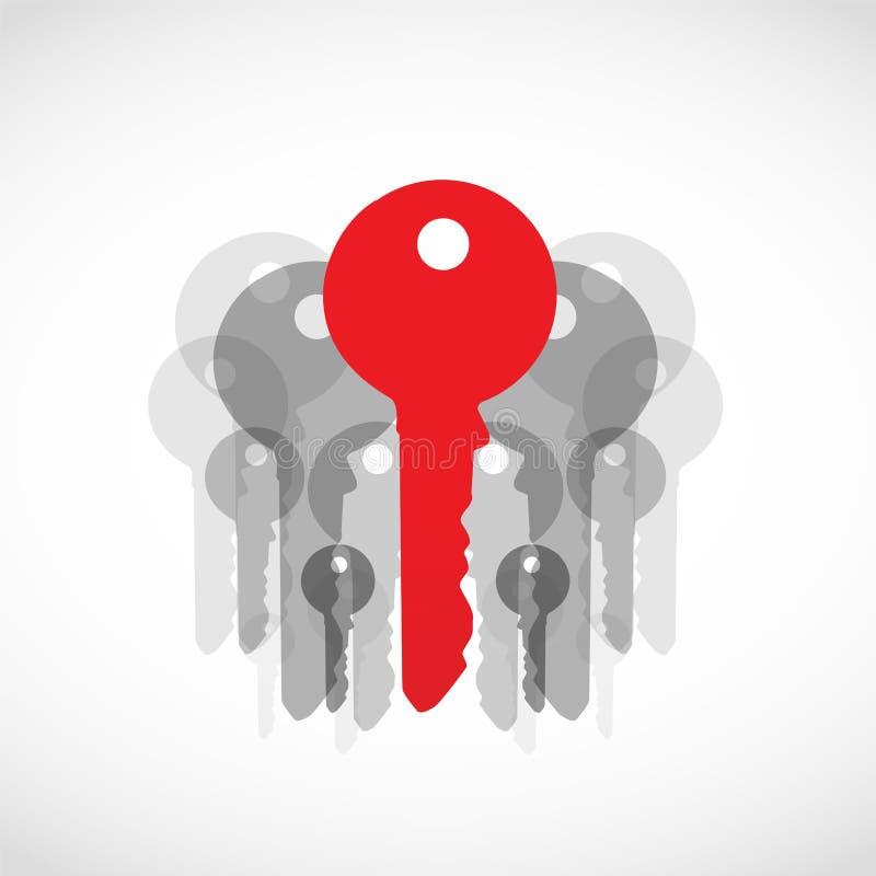 红色解决方法关键性概念 向量例证