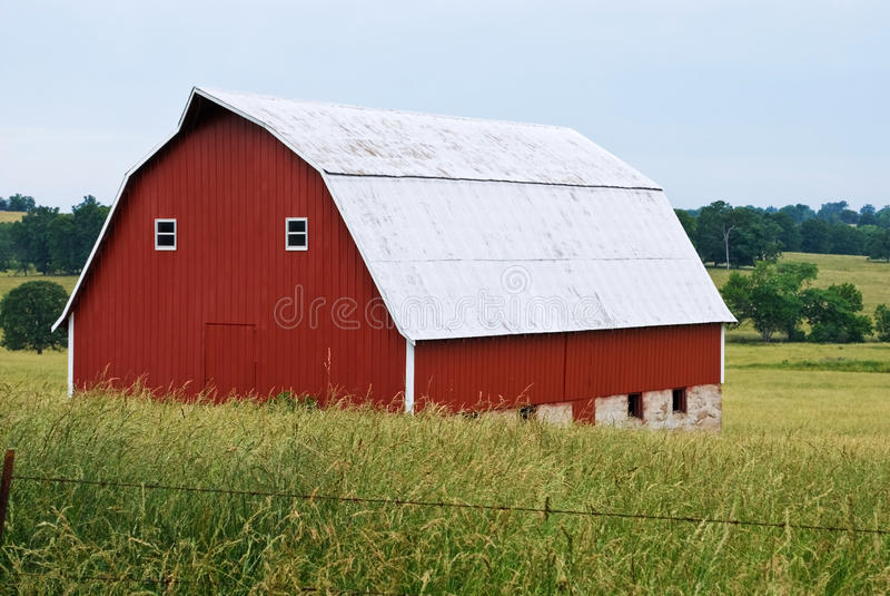 红色谷仓 库存图片