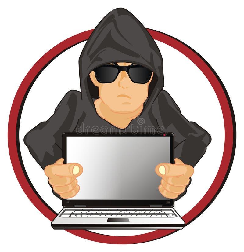 红色象的黑客 向量例证