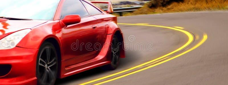 红色跑车 免版税库存图片