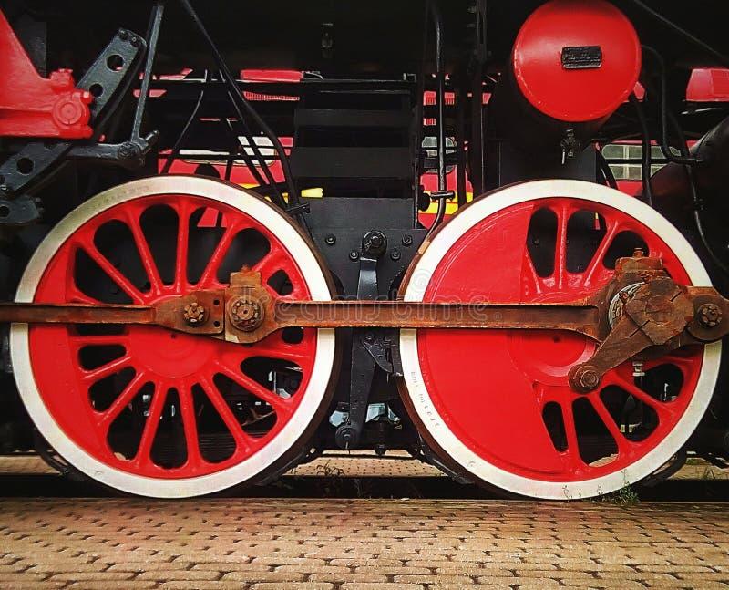 红色轮子 图库摄影