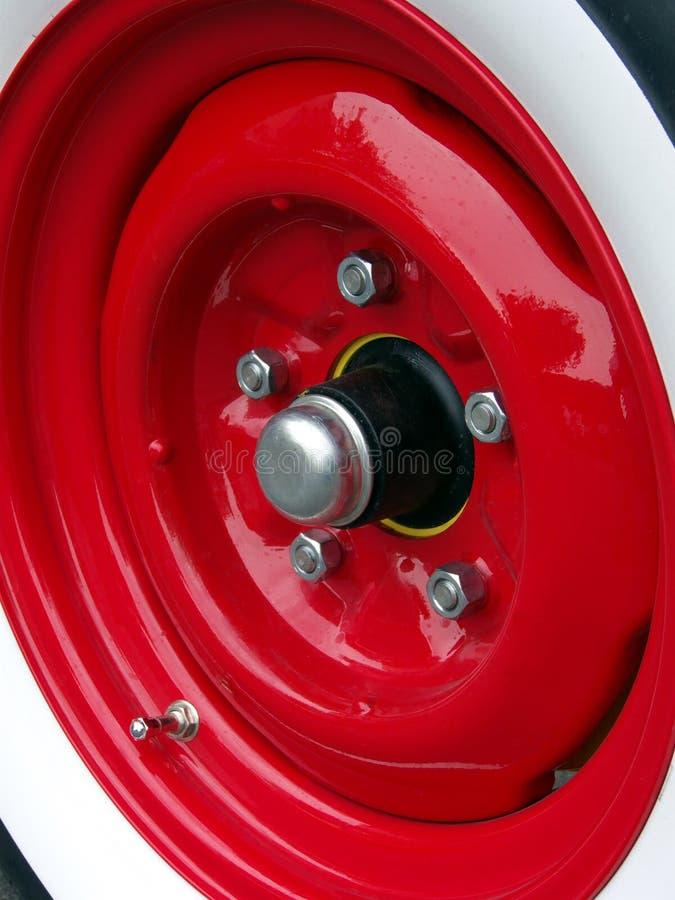 红色轮子 库存照片