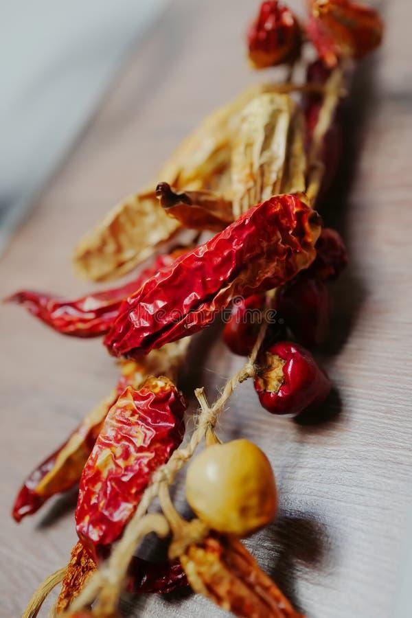 红色辣干胡椒 库存照片