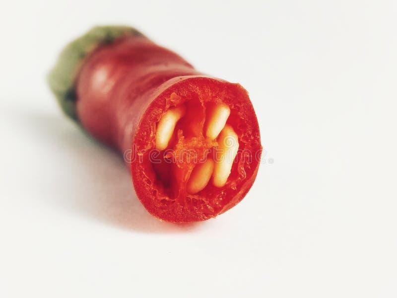 红色辣椒片 库存图片