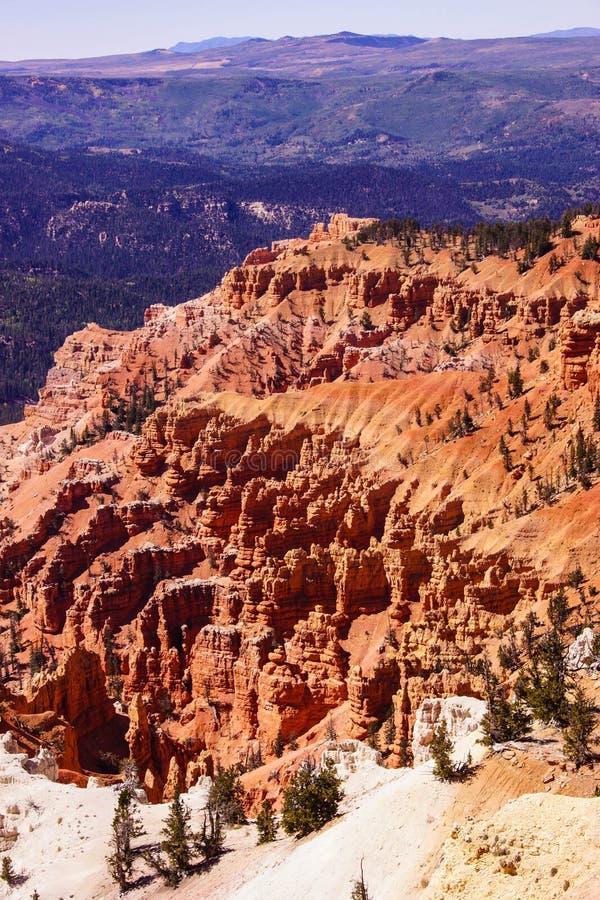 红色那瓦伙族人砂岩石峰 库存图片