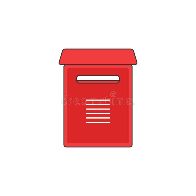红色邮箱支持传染媒介概述象例证 库存例证