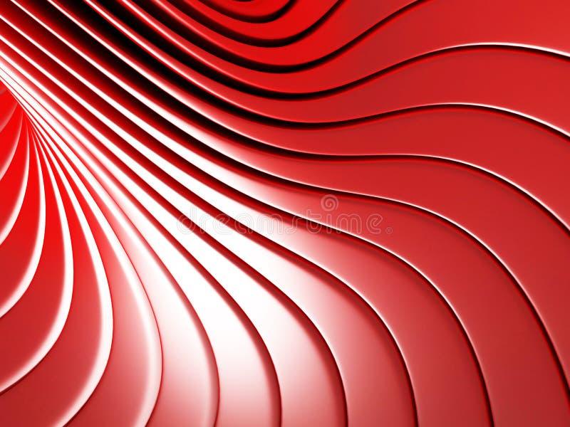红色金属条纹摘要光滑的背景 库存例证