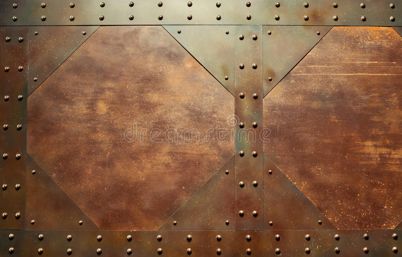 红色金属纹理 免版税库存照片