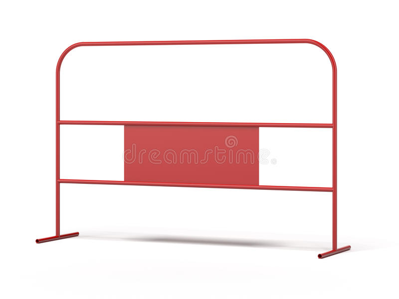 红色钢障碍 向量例证