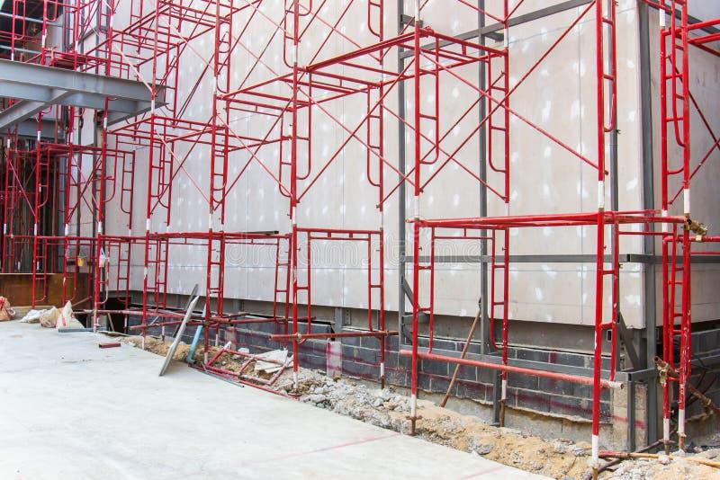 红色钢结构 免版税图库摄影