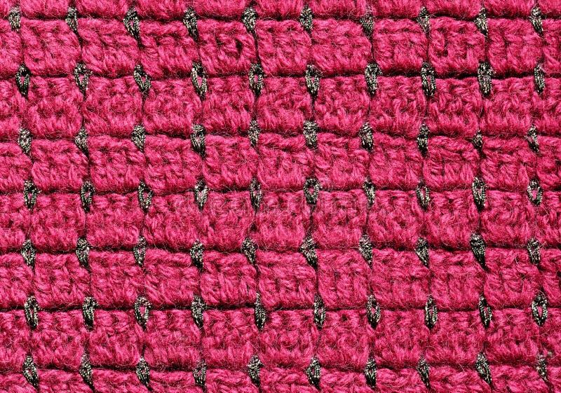 红色钩针编织织品 免版税库存照片