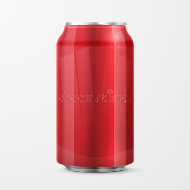 红色铝罐 库存例证