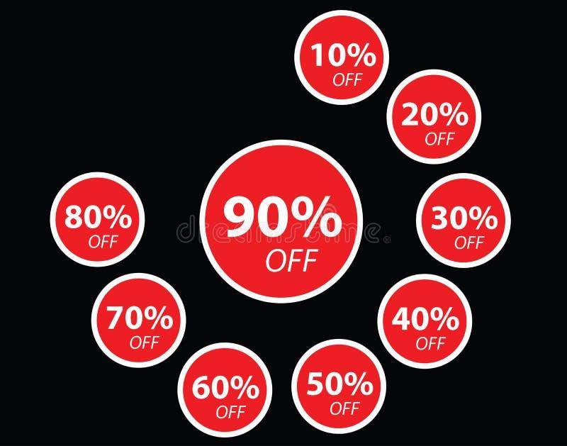 红色销售折扣横幅集合 库存图片