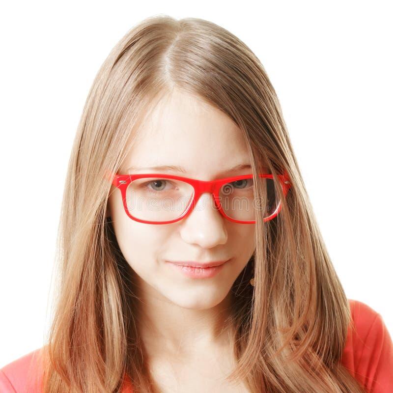 严肃的十几岁的女孩 免版税库存图片