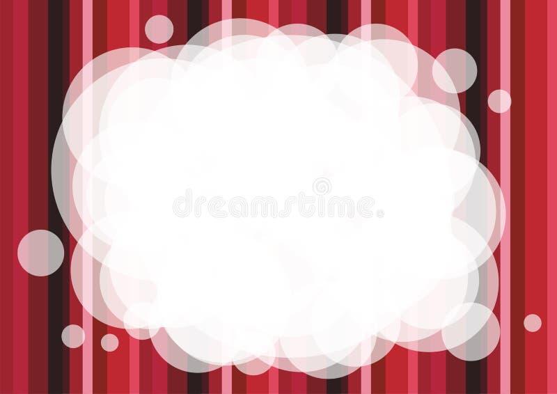 红色镶边抽象背景 免版税库存图片