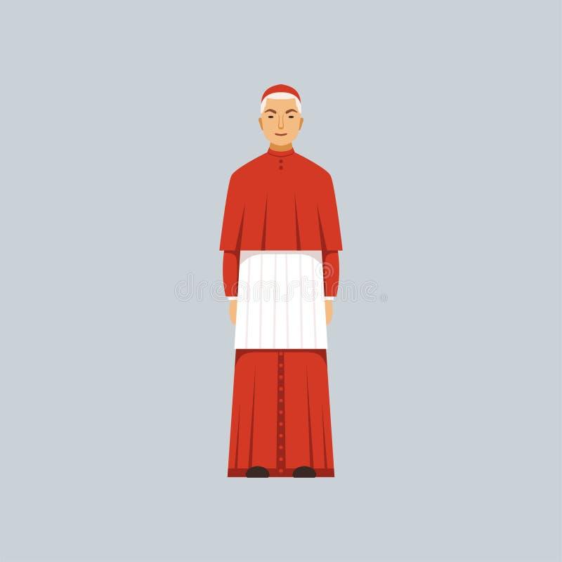 红色长袍的宽容主教,宗教坦白传染媒介例证代表  皇族释放例证
