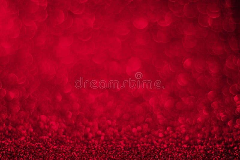 红色闪烁背景,华伦泰` s天 免版税库存图片