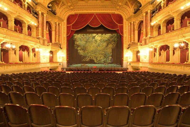 红色阶段剧院天鹅绒 库存照片
