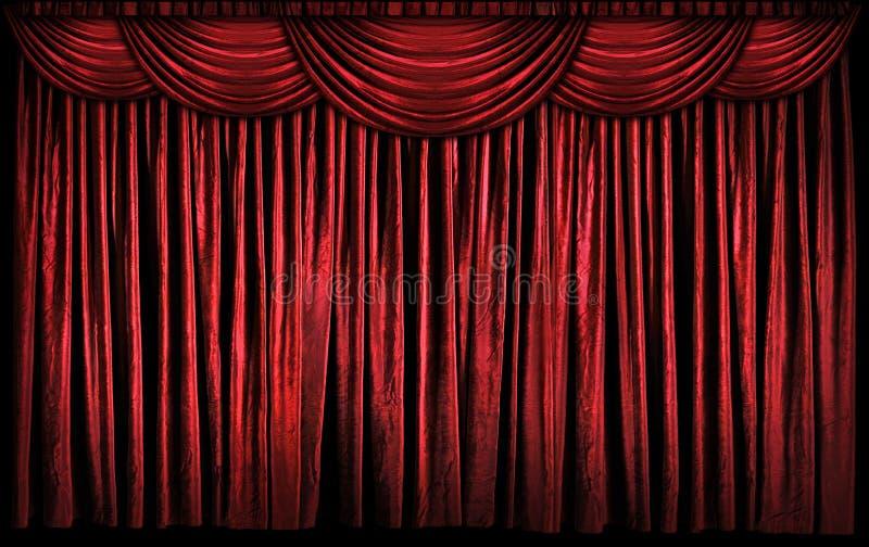 红色阶段窗帘 免版税图库摄影