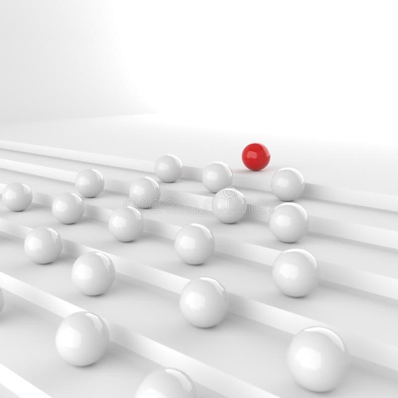 红色领导球 向量例证
