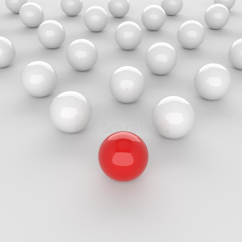 红色领导球 库存例证