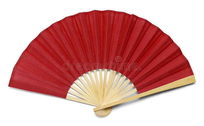 红色风扇 免版税库存图片
