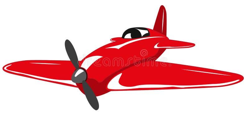 红色飞机 向量例证