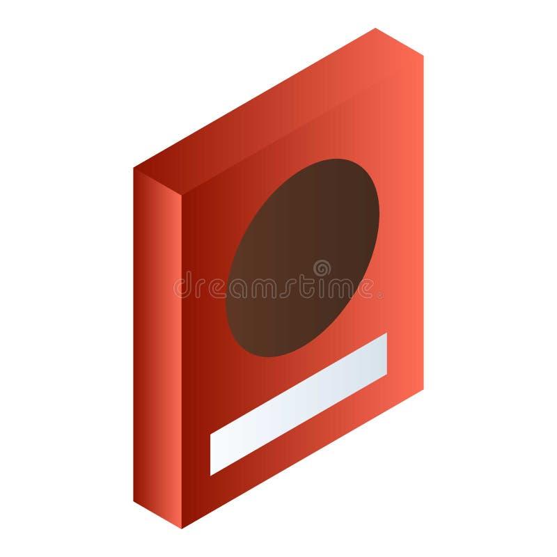 红色食物箱子象,等量样式 皇族释放例证