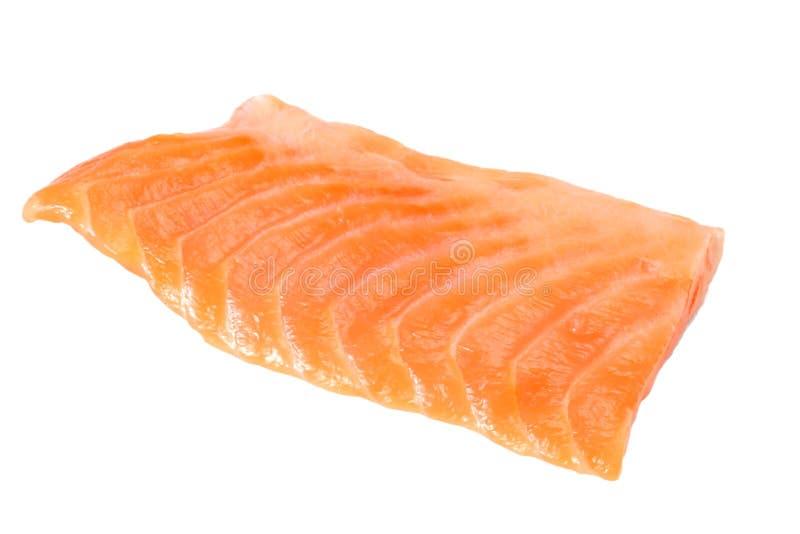 红色鱼 在白色背景的未加工的三文鱼内圆角孤立 免版税库存照片