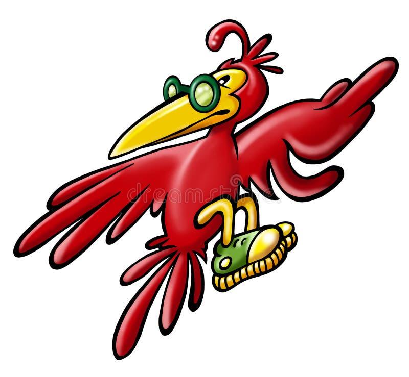 红色鸟 向量例证