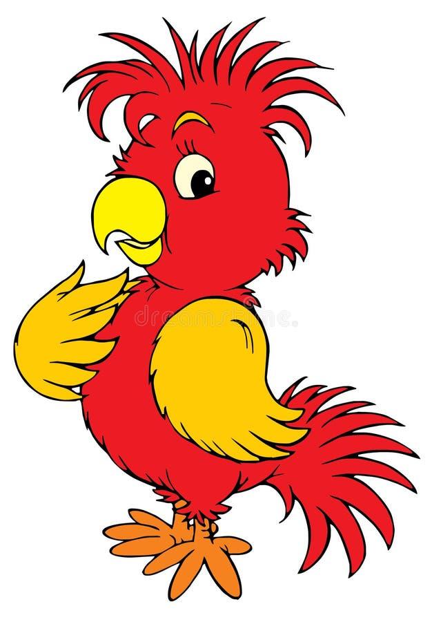 红色鹦鹉(向量夹子艺术) 向量例证