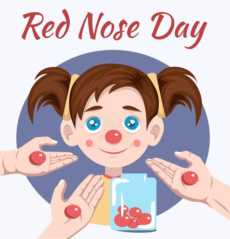 红色鼻子天 皇族释放例证