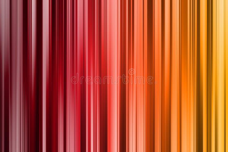 红色,橙色和黄色垂直线,黑暗和轻的抽象背景 向量例证