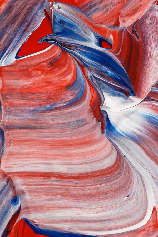 红色,白色和蓝色抽象背景 图库摄影