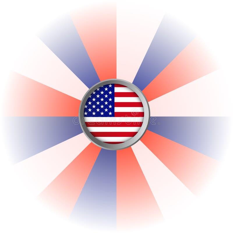 红色,白色和蓝色美国旗子背景 库存图片