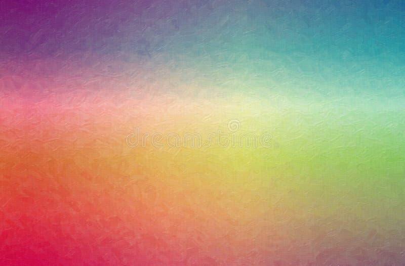 红色,绿色,紫色和蓝色对比油画背景的抽象例证 库存图片