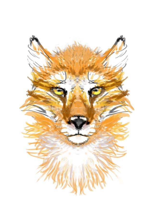红色, Fox,头,图片 库存例证
