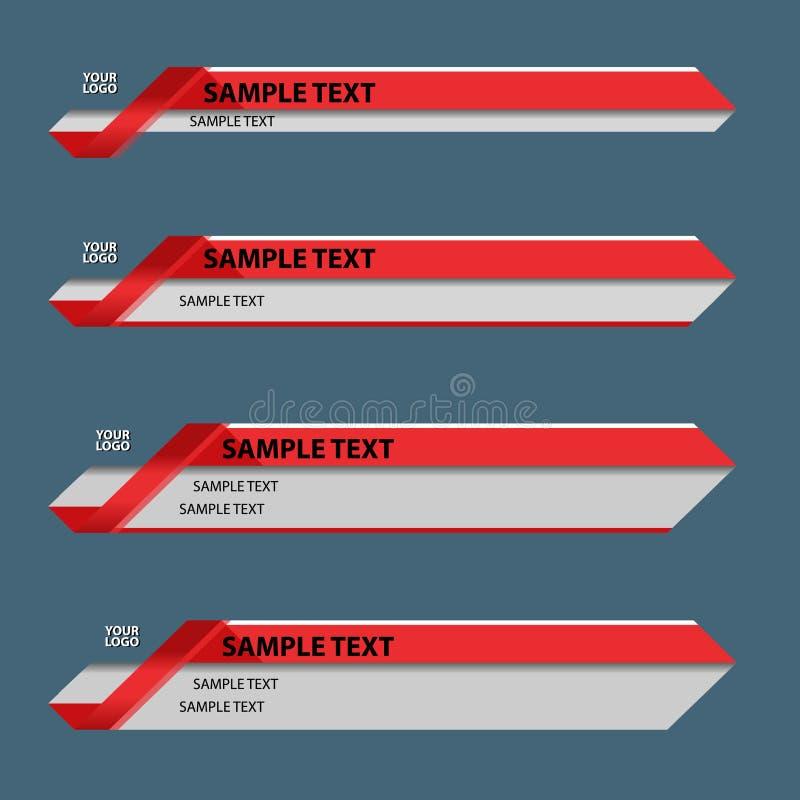 红色更低的第三副横幅 库存图片