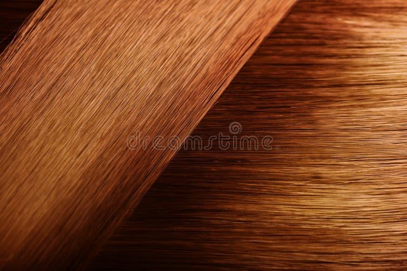 红色头发样品样片 免版税图库摄影