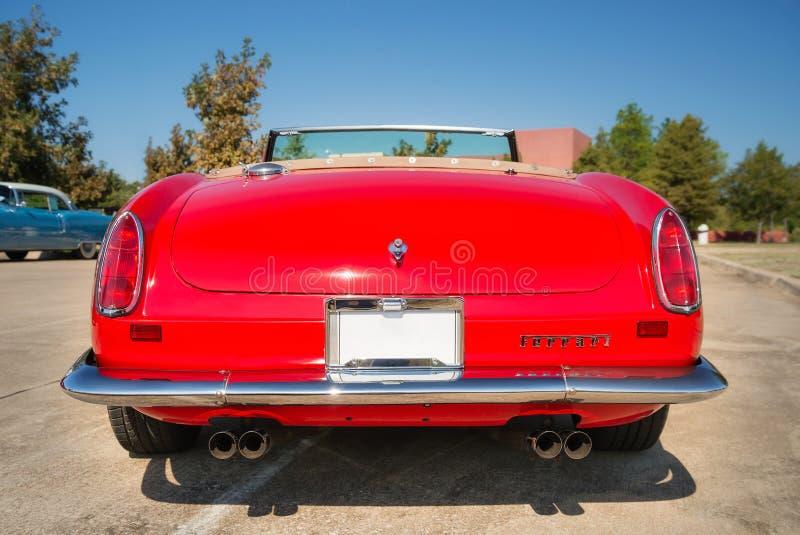 红色1962年法拉利250 GT加利福尼亚Spyder 免版税库存图片